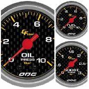 Trio Kit 3 Manômetros Odg Carbon Combustivel, Óleo E Turbo
