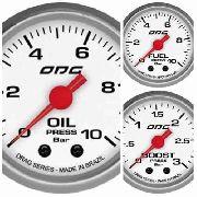 Trio Kit 3 Manômetros Odg Drag Combustivel, Óleo E Turbo