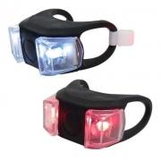 Sinalizador Lanterna Pisca Led branco e vermelho Borracha Silicone Preto Gts