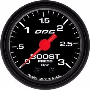 Manômetro Odg Dakar Boost 3 Bar 52 Mm Pressão De Turbo