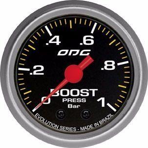 Manômetro Evolution Boost 1 Bar 52 Mm Pressão De Turbo
