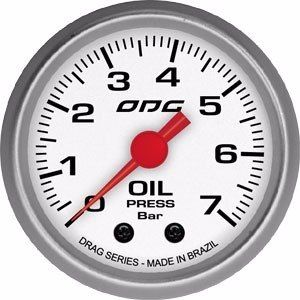 Manômetro Odg Drag Pressão De Óleo Oil 7 Bar 52 Mm