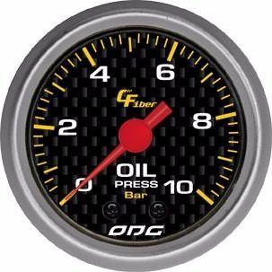 Manômetro Odg Carbon Pressão De Óleo Oil 10 Bar 52 Mm