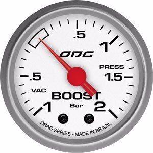 Manômetro Odg Drag Boost -1 A 2 Bar 52mm Pressão De Turbo