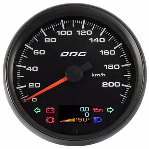 Velocímetro Odg Dakar Full Color 220km/h 100mm