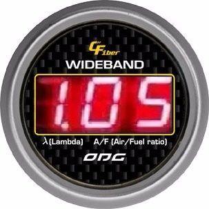 Wideband Odg Carbon Lsu 4.2 52mm Led Vermelho
