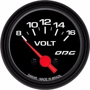 Indicador Odg Dakar Voltimetro 52mm