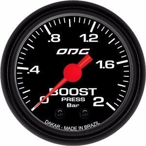 Manômetro Odg Dakar Pressão De Turbo Boost 2 Bar 52mm