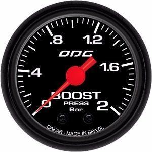 Manômetro Odg Dakar Pressão De Turbo Boost 2 Bar 52mm