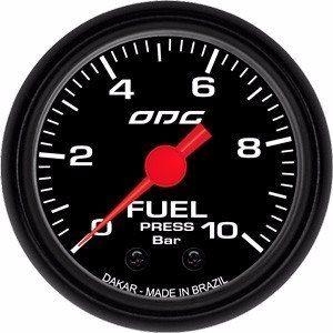 Manômetro Combustivel Combustível Odg Dakar Fuel 10 Bar 52mm