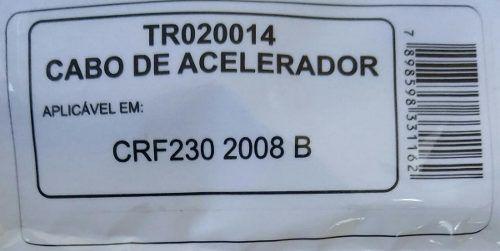 Cabo Acelerador Honda Crf230 2008+ Em Diante B Tech Ridea