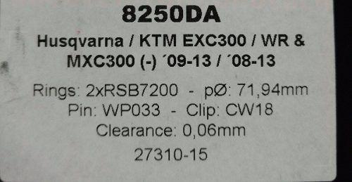 Pistão Forjado Wossner Para Ktm Exc Mxc Husqvarna Wr 8250da