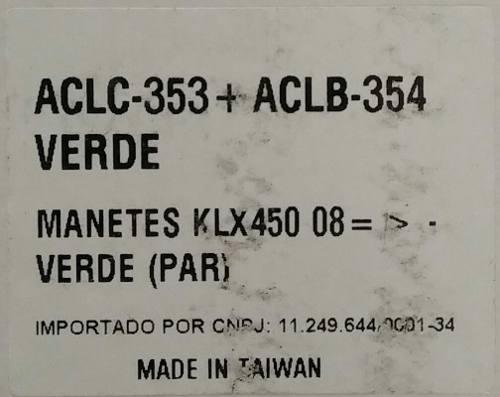 Manetes Retráteis Forjados Red Dragon Kawasaki Klx 450 Verde