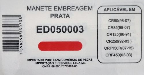 Manete Embreagem Honda Cr 80/85/125/250 Crf150/450 Edgers