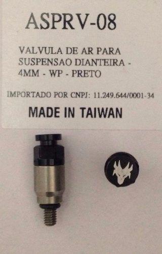 Válvula De Ar 4mm Preta Red Dragon Para Suspensão Dianteira