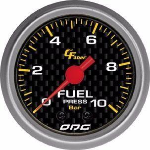 Manômetro Odg Carbon Pressão De Combustive Fuel 10 Bar 52 Mm