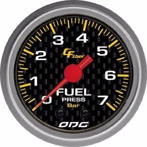 Manômetro Odg Carbon Pressão De Combustivel Fuel 7 Bar 52 Mm