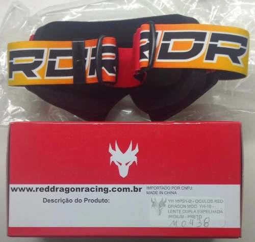 Óculos Proteção Moto Goggles Red Dragon Lent Dupla Espelhada