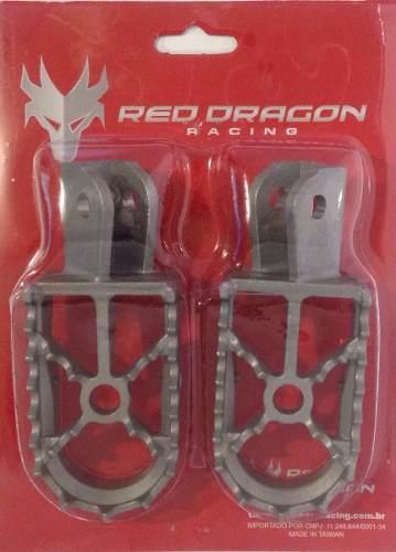 Pedaleira Crf230 Xr250 Tornado Em Aço Honda Red Dragon