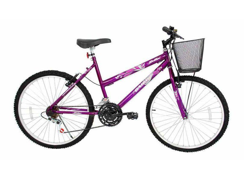 Bicicleta Cairu Bella Violeta c/cesta