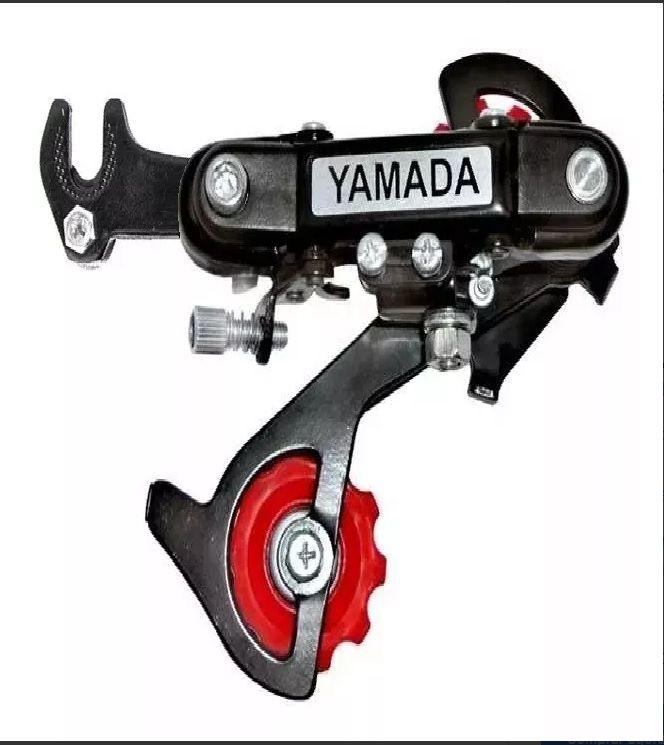 Câmbio Traseiro 6v / 7v Com Gancheira Para Bike Yamada Preto