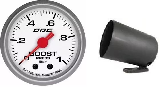 Kit Manômetro Drag Boost 1 + Brinde Copo