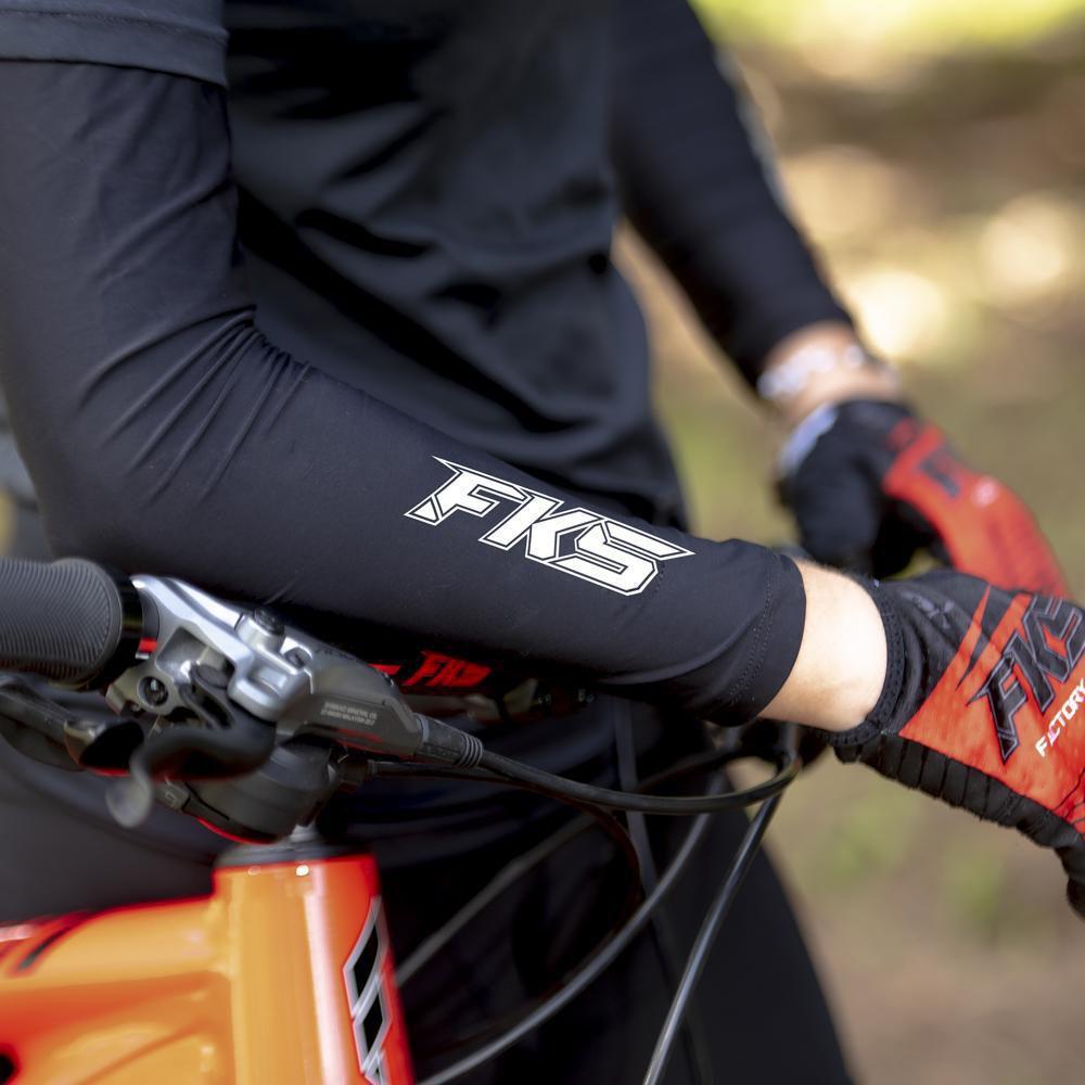 Manguito ciclismo proteção UV preto manga longa - Fks Bike