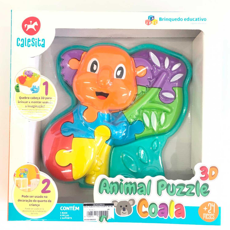 ANIMAL PUZZLE INFANTIL 3D COALA CALESITA REF:852 24 MESES+