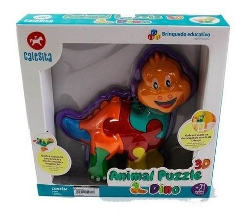 ANIMAL PUZZLE INFANTIL 3D DINO CALESITA REF:854 24 M+
