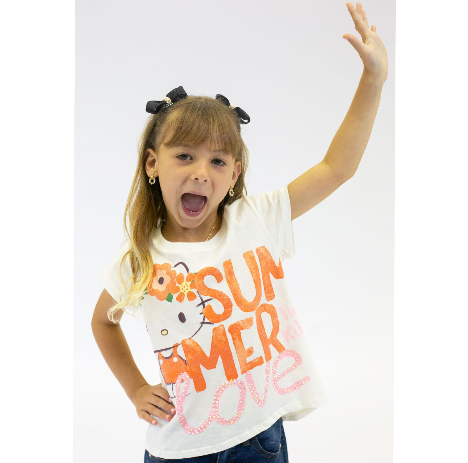 BLUSA INFANTIL HELLO KITTY REF:87656 4/8