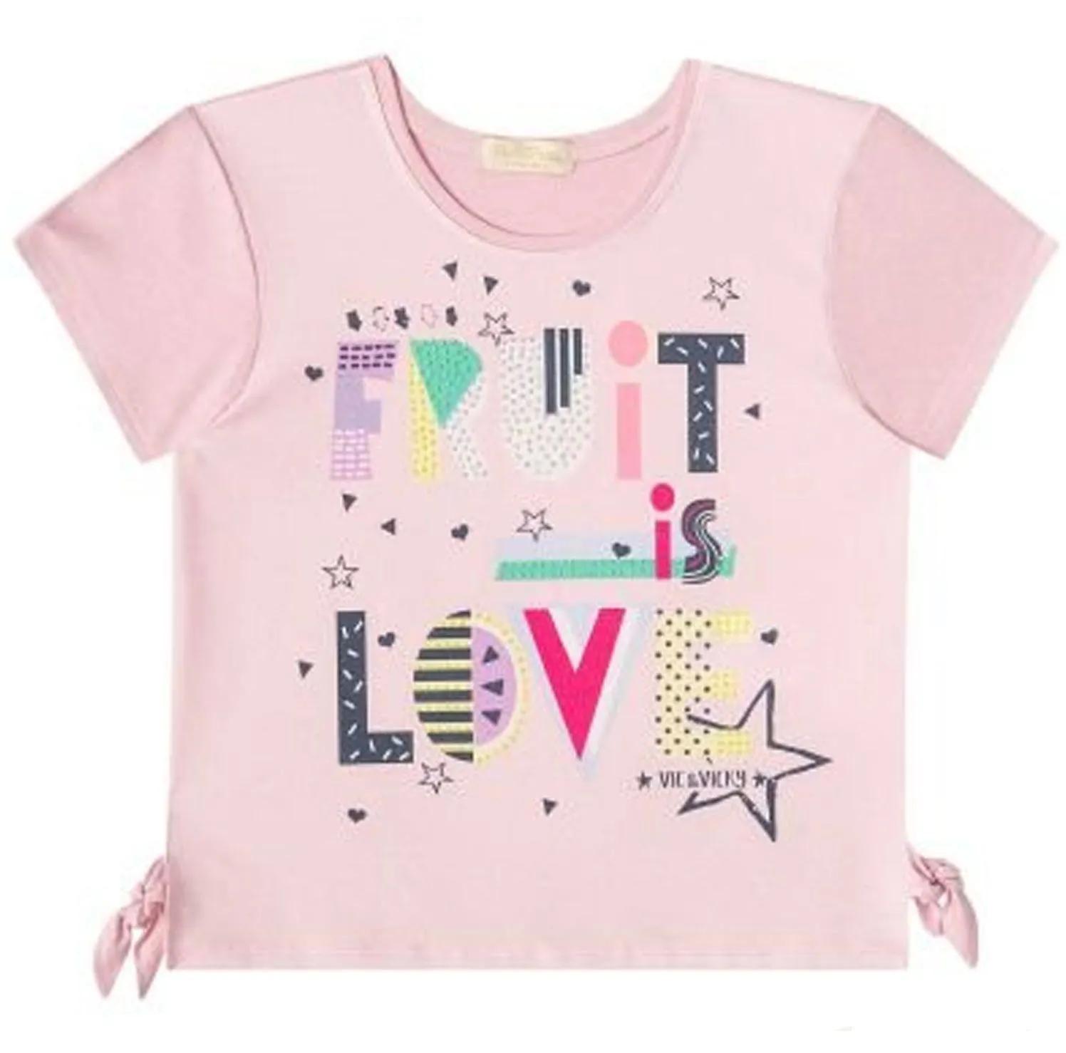 BLUSA INFANTIL MANGA CURTA VIC & VICKY REF:36768 6/10
