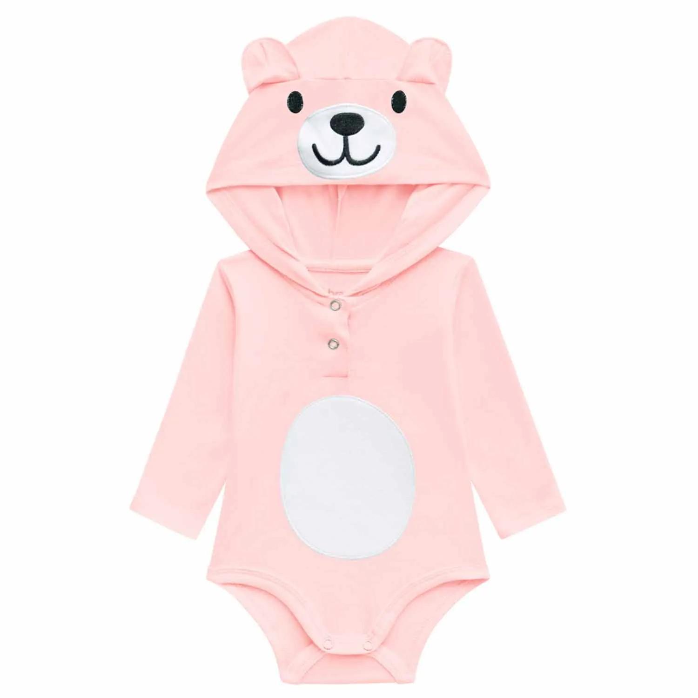 BODY URSINHO BRANDILI BABY MANGA LONGA  REF:53776 P/G