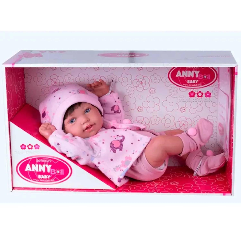 BONECA ANNY DOLL BABY REBORN COLLECTION COTIPLÁS REF:2441 3 ANOS +