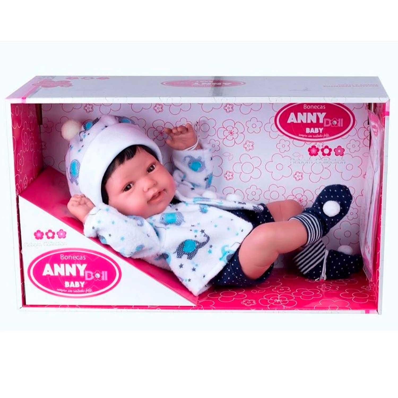 BONECA ANNY DOLL BABY REBORN COLLECTION MENINO COTIPLÁS REF:2440 3 ANOS +