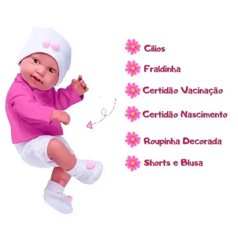 BONECA ANNY DOLL REBORN COLLECTION BABY COTIPLÁS REF:2443 3 ANOS+