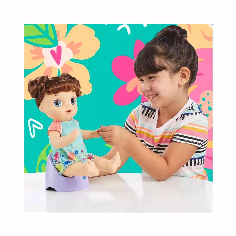 BONECA BABY ALIVE PRIMEIRO PENICO MORENA HASBRO REF:0610