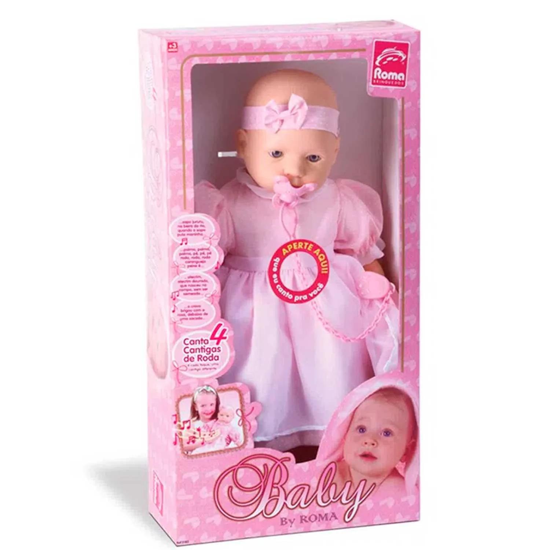 BONECA BABY BY ROMA COM CANCÕES REF:5183 3 ANOS+