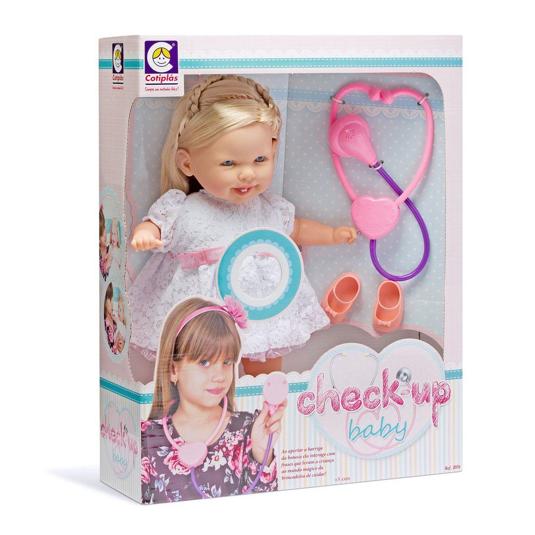 BONECA COTIPLAS CHECK-UP BABY REF:2076
