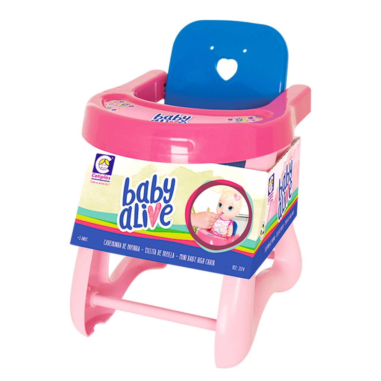 CADEIRA DE PAPINHA PEQUENA PARA BABY ALIVE COTIPLAS REF:2174