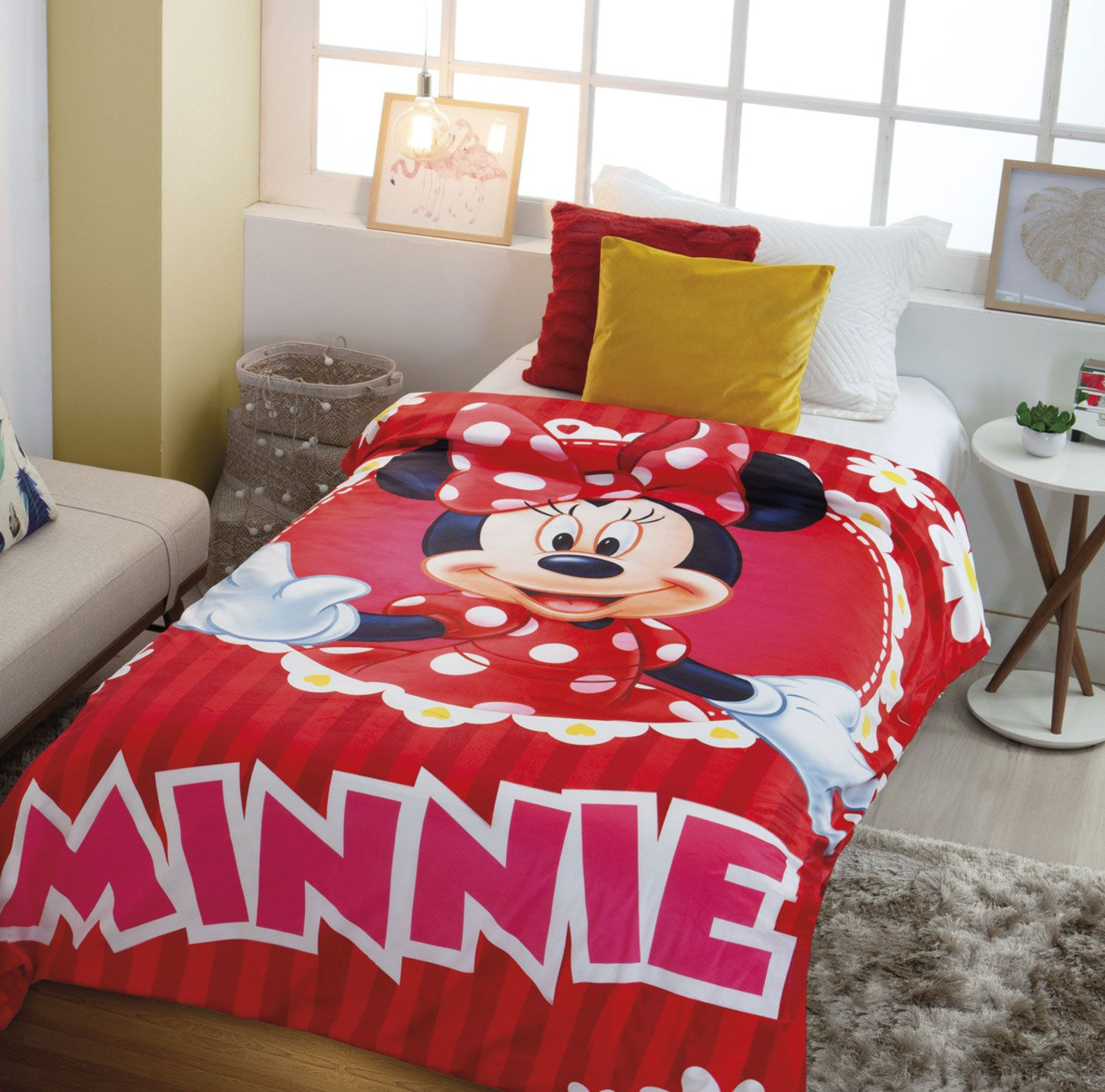 COBERTOR JUVENIL DIGITAL HD SHERPA MINNIE JOLITEX REF:55008 1,50M X 2,00M