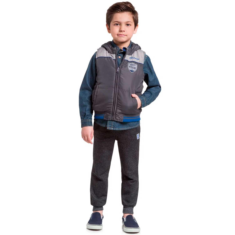 COLETE INFANTIL COM CAPUZ DUPLA FACE MASCULUNO MUNDI REF:53126 4/10