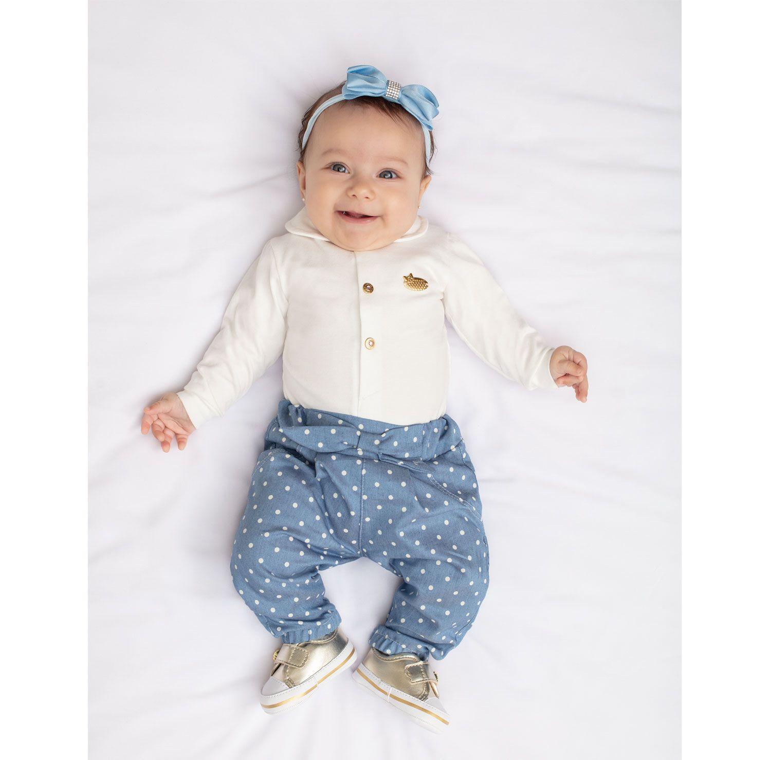 CONJUNTO BABY COM BODY PARAISO POA REF:9824 P/G