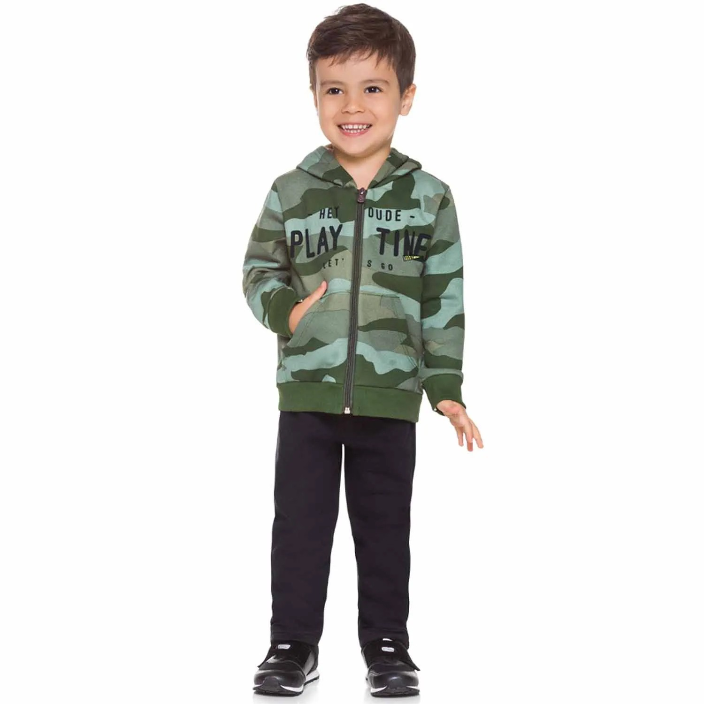 CONJUNTO INFANTIL BRANDILI  MOLETOM CAMUFLADO  REF:53518 1/3