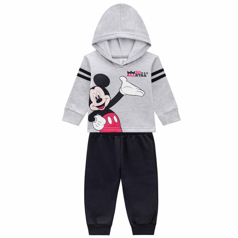CONJUNTO MICKEY MOLETOM DISNEY BRANDILI BABY REF:53755 P/G