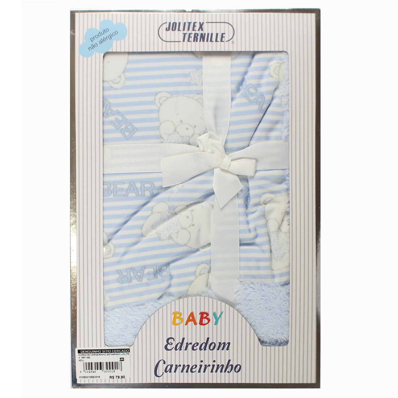 EDREDOM CARNEIRINHO PARA BEBÊ ESTAMPADO 75,CM X1,00M JOLITEX REF:082