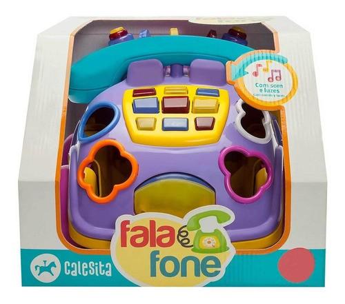 FALA  FONE INFANTIL COM SOM E LUZES CALESITA REF:849 18 M+