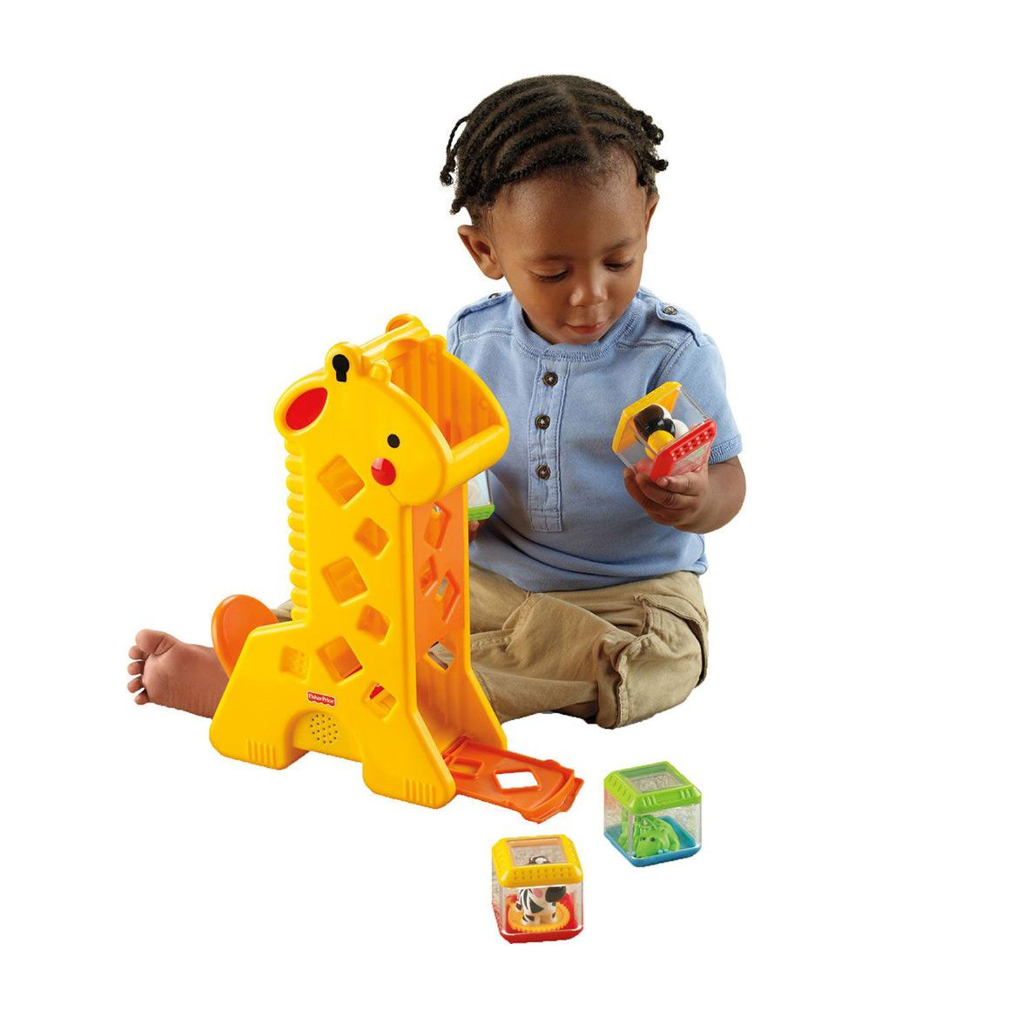 GIRAFA COM BLOCOS FISHER-PRICE MATTEL REF:B4253