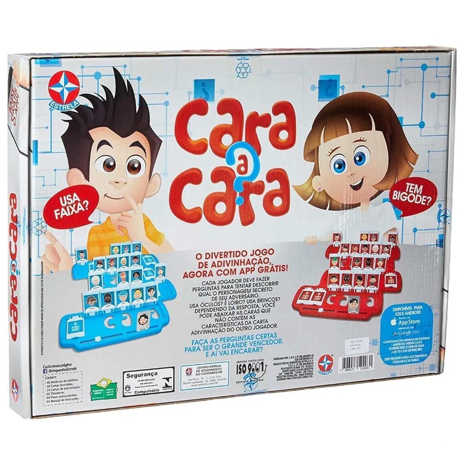 JOGO CARA A CARA REF:1201602900022 6 ANOS+