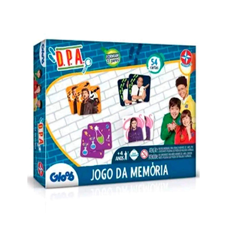 JOGO DA MEMÓRIA DETETIVES DO PRÉDIO AZUL COM 54 CARTAS ESTRELA REF:1201602000117 4 ANOS+