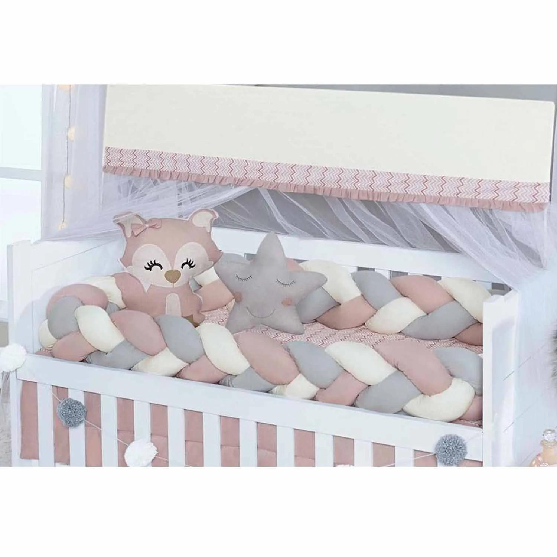 KIT BERÇO TRANÇA BABY RAPOSA 4R REF:62571 08 PEÇAS